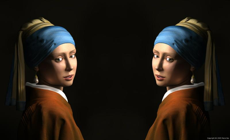 Twin Girls With A Pearl Earring